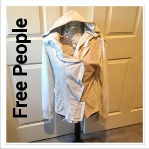 FREE PEOPLE 100% Cotton Button Up Hoodie M